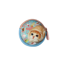 HENRY CATS AND FRIENDS DOMPET KOIN HENNA