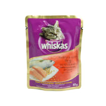 WHISKAS POUCH MACKEREL SALMON 85 GR