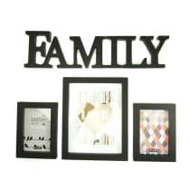 BINGKAI FOTO SET (4) FAMILY - HITAM