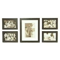 BINGKAI FOTO KAYU SET (5 PCS) - HITAM