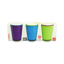 SET GELAS TUMBLER PICNIC 270 ML 3 PCS