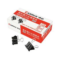 COMIX BINDER CLIP 25MM 12 PCS - HITAM