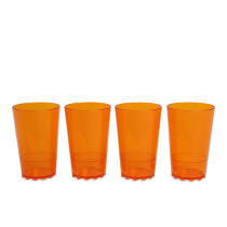 SATU SET GELAS 200 ML 4 PCS  - ORANGE