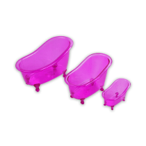 SET TEMPAT PENYIMPANAN MINI BATHTUB 3 PCS - PINK