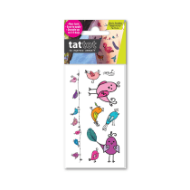 TATTOT STIKER TATO TEMPORARY SMALL 69532 - BIRD & FEATHER