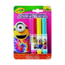 CRAYOLA MINIONS ROCK AND ROLL SPIDOL WARNA 3 PCS