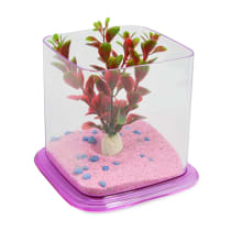 FISHLAND BETTA PARADISE CRYSTAL AKUARIUM - PINK
