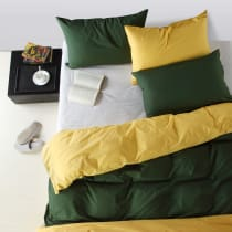 LINOTELA TWO TONE DUVET COVER KING BED – VOGUE YELLOW