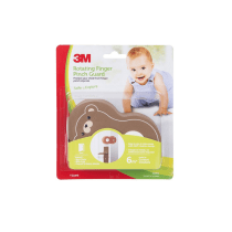 3M ROTATING FINGER PINCH GUARD BEAR - COKELAT