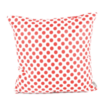 GLERRY HOME DECOR BANTAL SOFA RED POLKA & WHITE 45X45 CM
