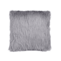 GLERRY HOME DECOR BANTAL SOFA SILVER FUR CUSHION 40X40CM