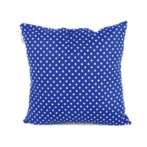 GLERRY HOME DECOR BANTAL SOFA NAVY POLKA & MUSTARD 40X40 CM