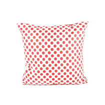GLERRY HOME DECOR BANTAL SOFA RED POLKA & WHITE 40X40 CM