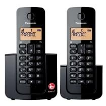 PANASONIC SET TELEPON TANPA KABEL DOUBLE HANDSET KX-TGB112CX1 - HITAM