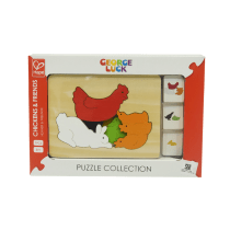 HAPE MAINAN PUZZLE GEORGE LUCK CHICKENS & FRIENDS