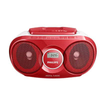 PHILIPS AZ215R SOUNDMACHINE CD PLAYER RADIO - RED