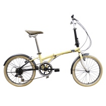 LONDON TAXI SEPEDA LIPAT FOLDING BIKE 20 - CREAM