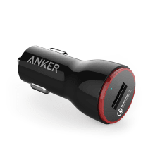 ANKER POWERDRIVE+ 1 CHARGER MOBIL DENGAN QUICK CHARGER 3 - HITAM