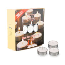KRIS LILIN TEALIGHT BUNDAR 100 PCS - PUTIH