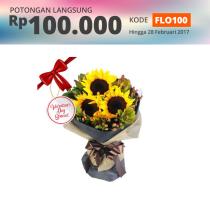 FLOWER ADVISOR BUNGA HAND BOUQUET SUN AT HEART
