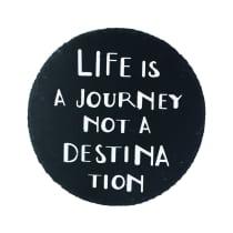 HIASAN DINDING NATURAL LIFE IS A JOURNEY  20 CM