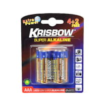 KRISBOW BATERAI  ALKALINE UKURAN AAA 4+2 PCS