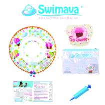SWIMAVA SET PELAMPUNG LEHER DAN POPOK RENANG ICE CREAM G1