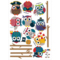 HYUNDAE FIXPIX WALLSTICKER PIRATES OWLS FRIENDS