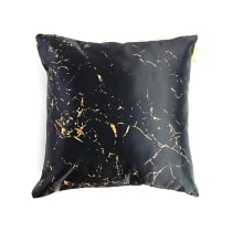GLERRY HOME DECOR BANTAL SOFA GOLDEN BLACK MARBLE 40X40 CM