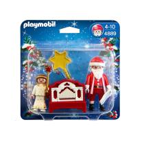 PLAYMOBIL SET MINIATUR CHRISTMAS LIL ANGEL & SANTA CLAUS