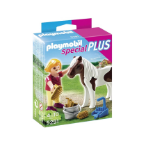 PLAYMOBIL SET MINIATUR  SPECIAL PLUS GIRL WITH PONY