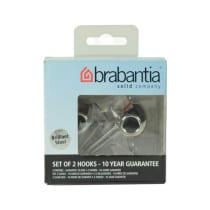 BRABANTIA SET GANTUNGAN HANDUK BRILLIANT STEEL 2 PCS