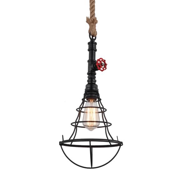 CELLO LAMPU GANTUNG HIAS 22X150 CM - HITAM