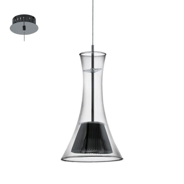 EGLO MUSERO LAMPU GANTUNG HIAS LED - HITAM