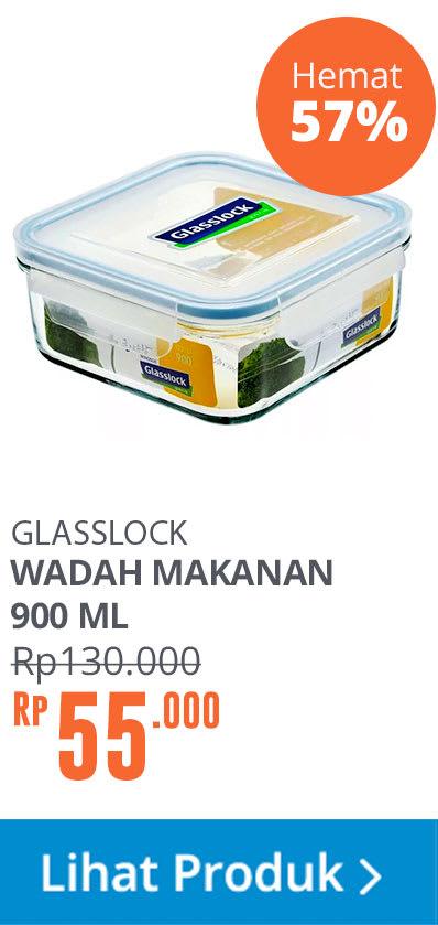 GLASSLOCK STORAGE SQUARE 900ML