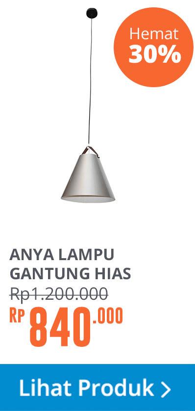 ANYA PENDANT LAMP M MET 36X36X35CM SLV