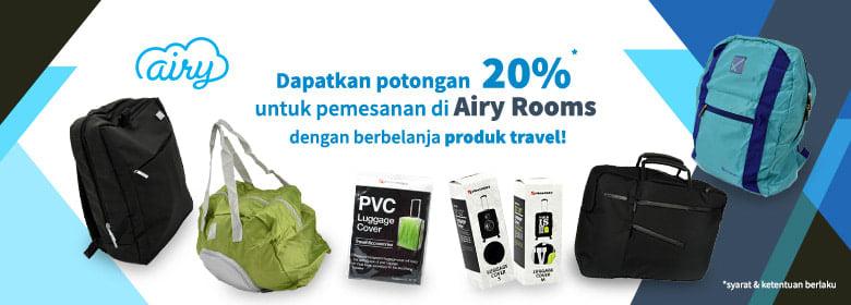 Potongan 20% untuk Pemesanan di Airy Rooms