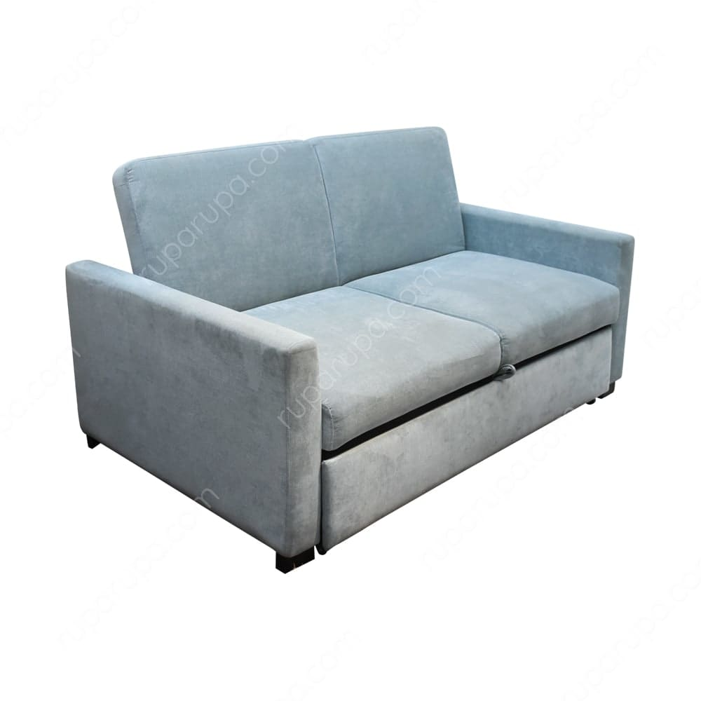 Jual Maine Sofa Tidur 2 Dudukan Biru Terbaru Ruparupa
