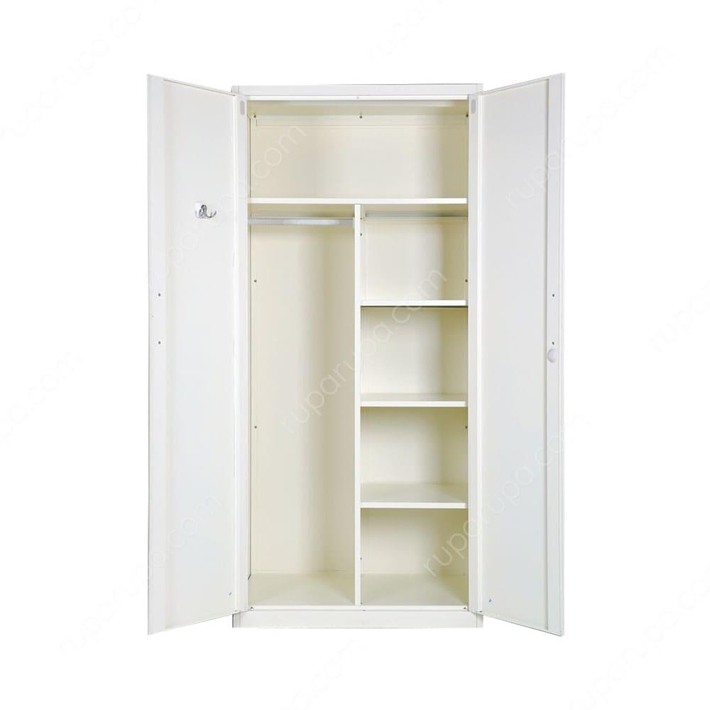 Jual Tifanny Lemari Pakaian 2 Pintu Putih Terbaru Ruparupa