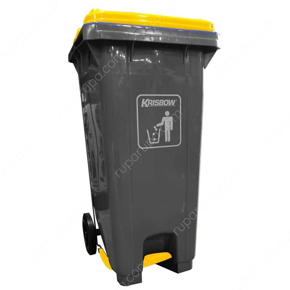 Krisbow Tempat Sampah Plastik Outdoor 120 Ltr