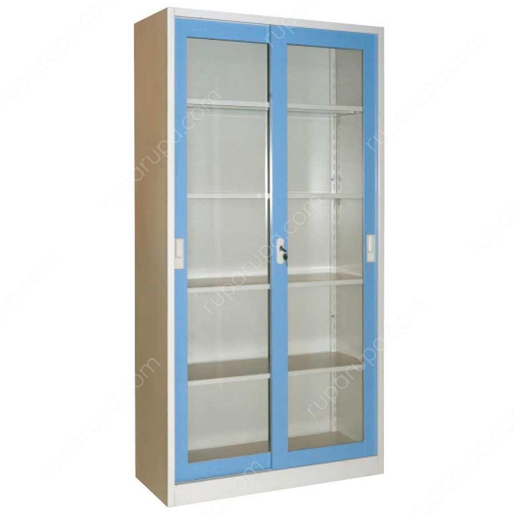 Jual Krisbow Lemari Kantor Pintu Kaca Geser 90 X 39 X 180