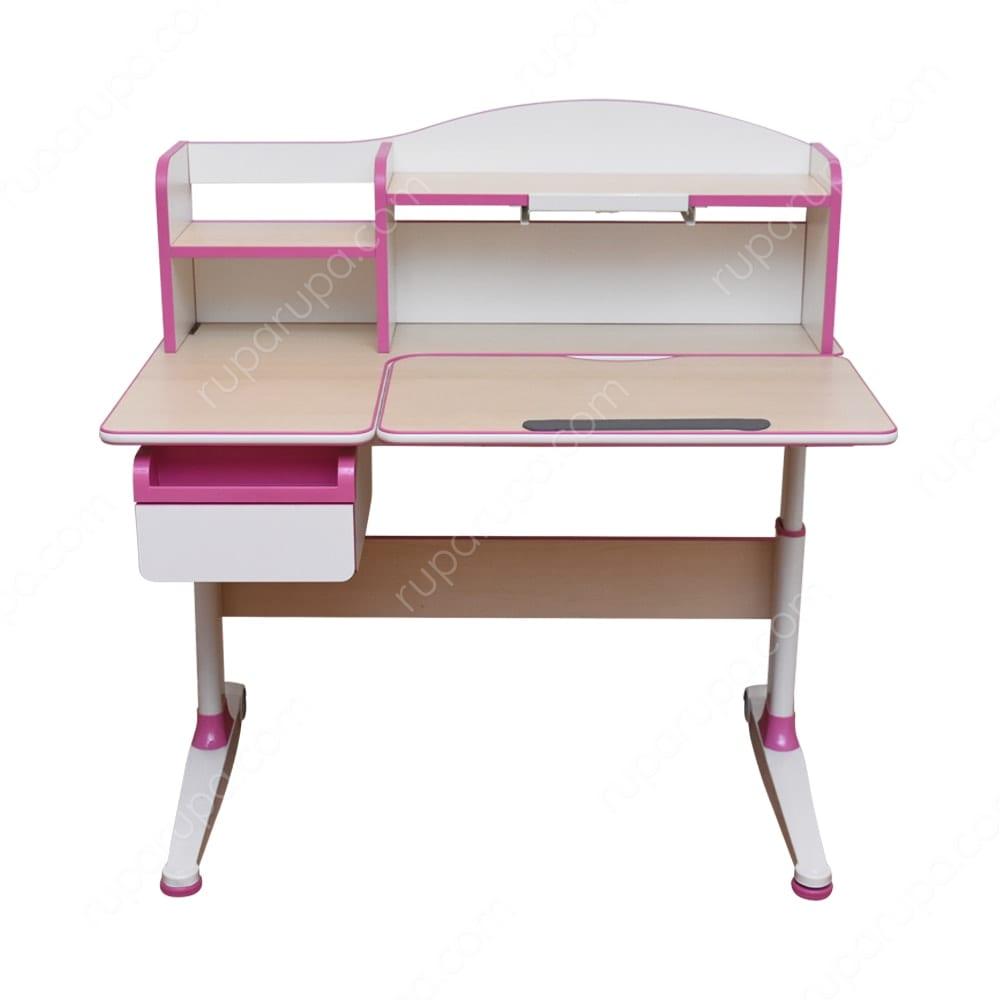 Lynn Meja Belajar Anak Ergonomis Pink