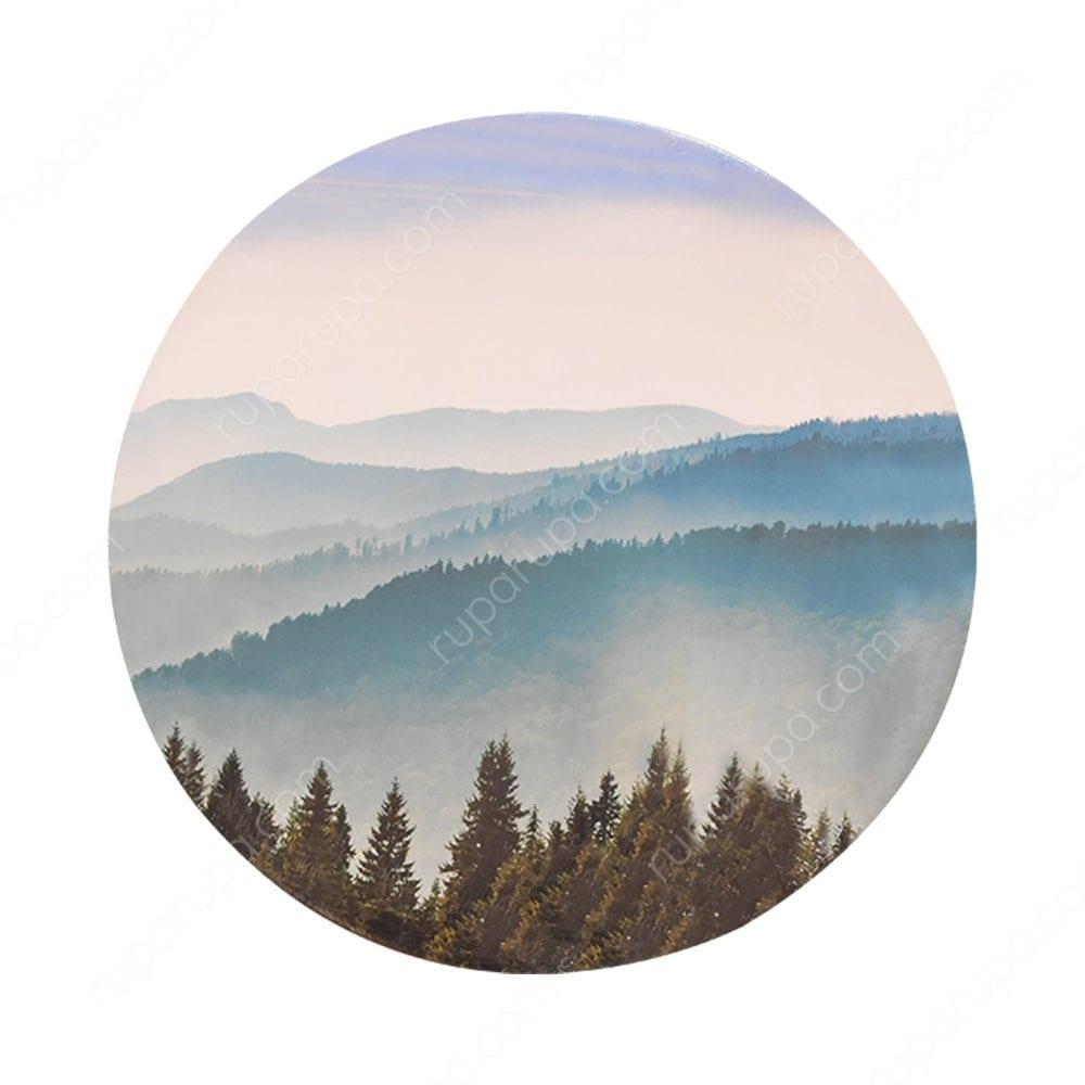 Hiasan Dinding Kanvas Print Bundar Pemandangan Xc2 70x70x2 Cm