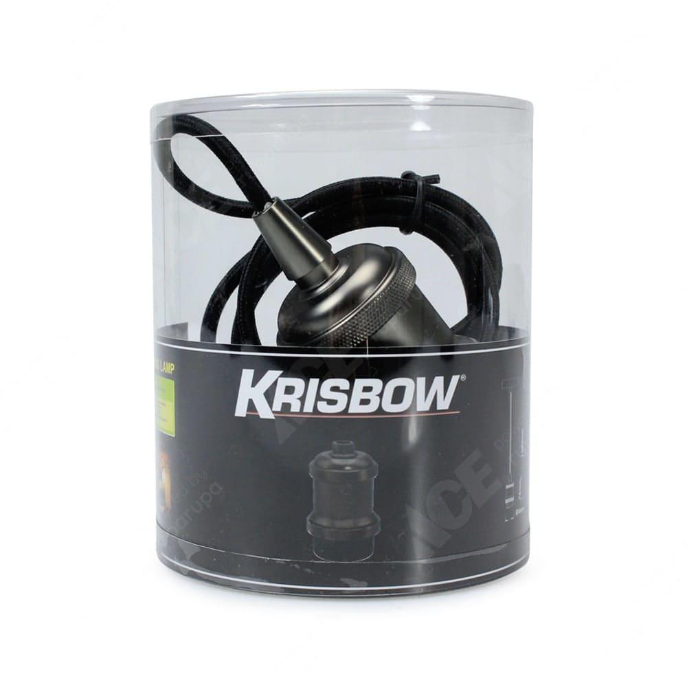 Jual Krisbow Fitting Lampu Gantung E 27 Hitam Original Ace