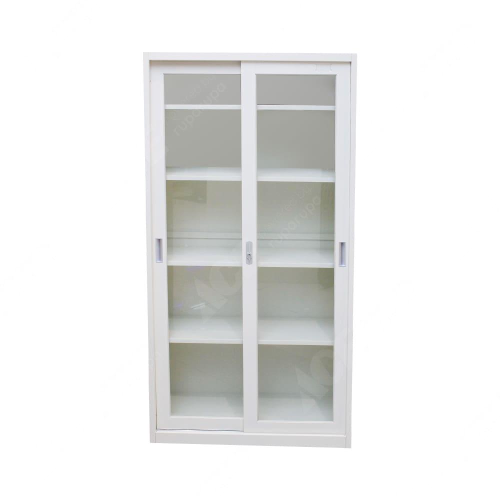 Jual Lemari Kantor Dengan Pintu Kaca Geser 90 X 39 X 180