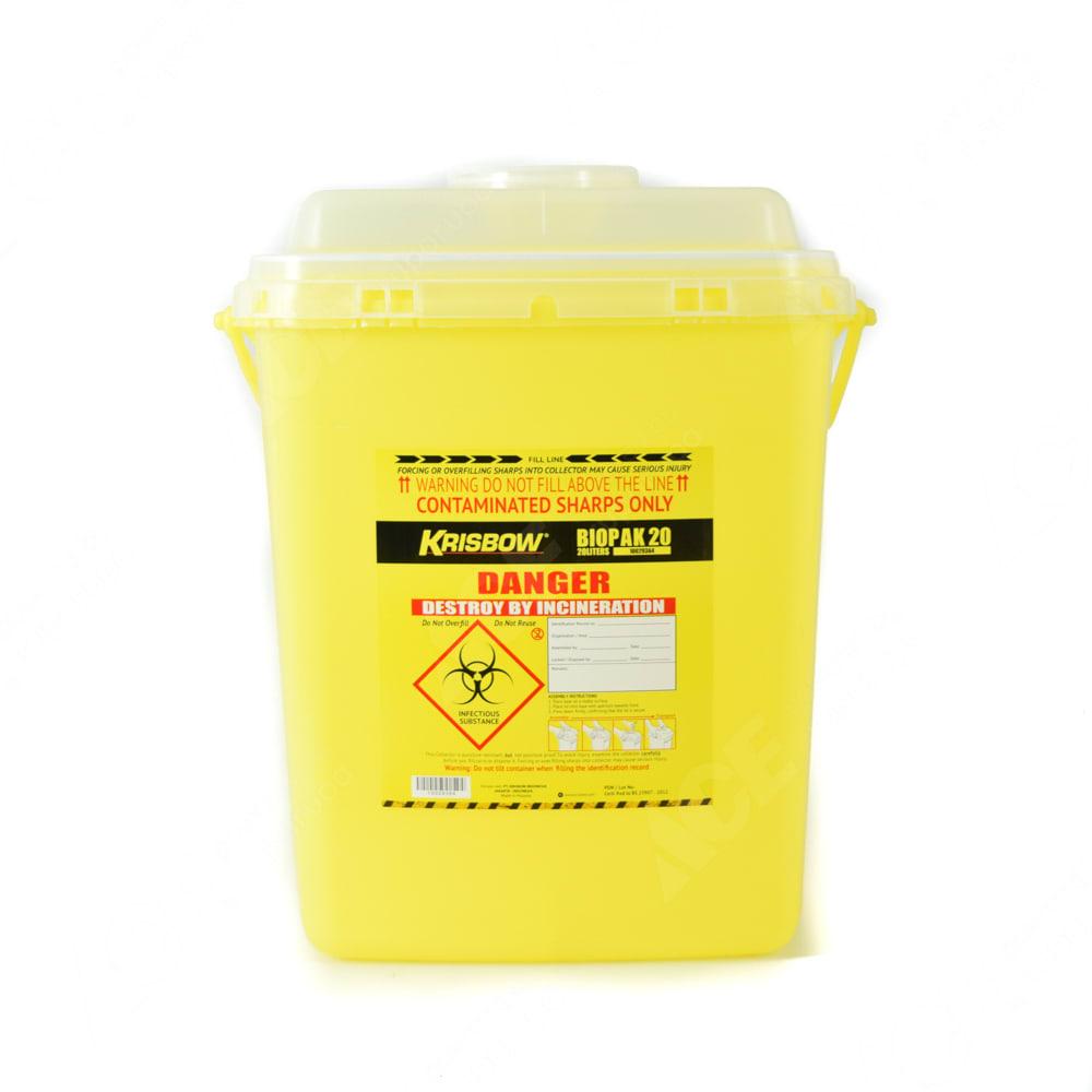 Krisbow 20 Ltr Biopak Tempat Sampah Medis