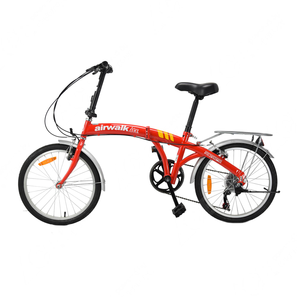 Airwalk Expresso Sepeda Lipat 20 Inci 6 Speed Merah