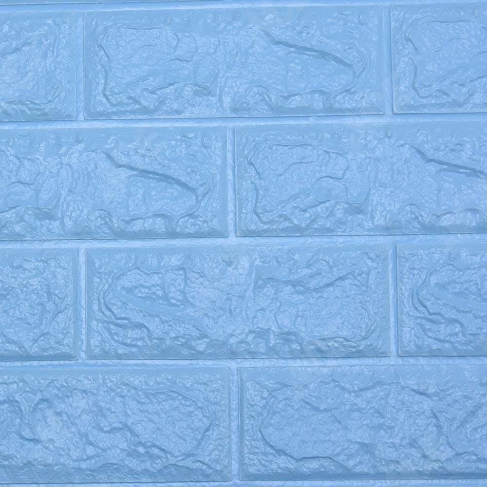 Kris Decor Wallpaper 3d Classical Brick Biru