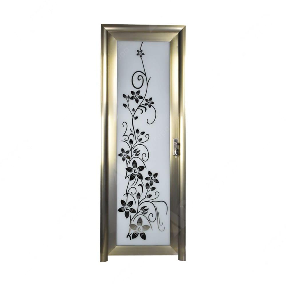 Pintu Aluminium Dengan Gagang Pintu Kiri