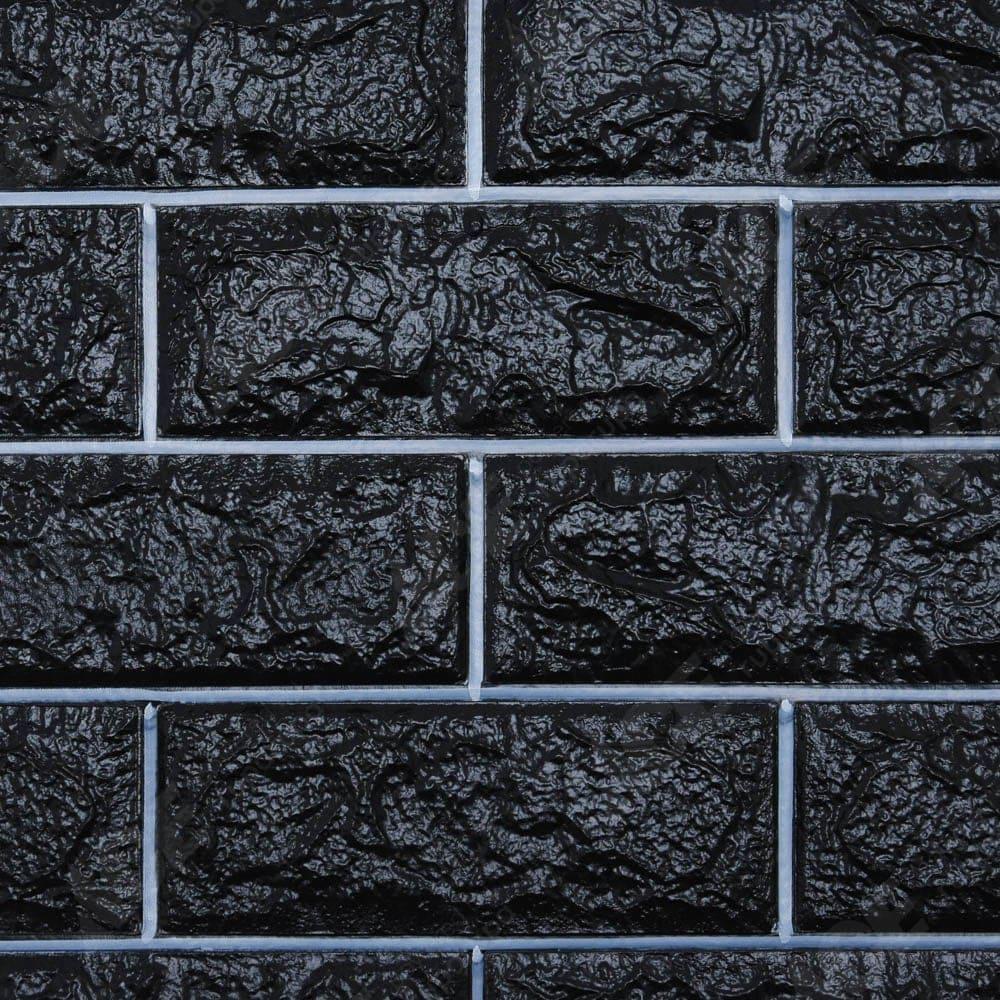 Arthome Wallbrick Wallpaper 3d Hitam Putih